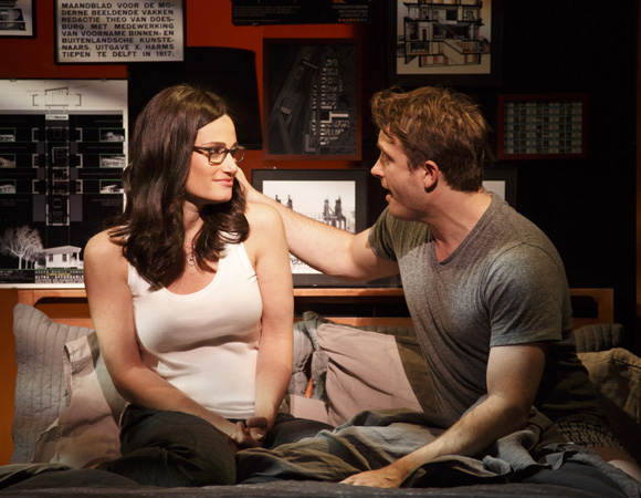 <p>Liz (Idina Menzel) shares a romantic moment with army doctor Josh (James Snyder) in <em>If/Then</em> </p><br />Joan Marcus