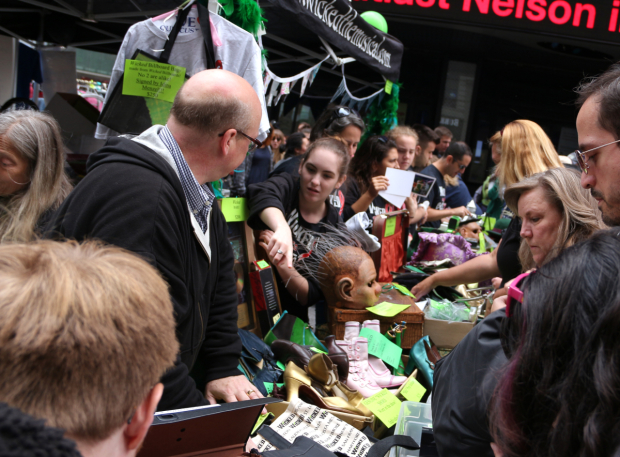 <p>Look at all the <em>Wicked</em> memorabilia up for grabs.</p><br />(&copy&#x3B; David Gordon)
