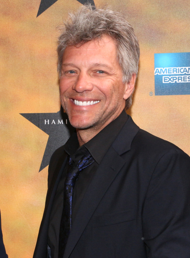 <p>Look how excited music icon Jon Bon Jovi is to see <em>Hamilton</em>.</p><br />(© David Gordon)
