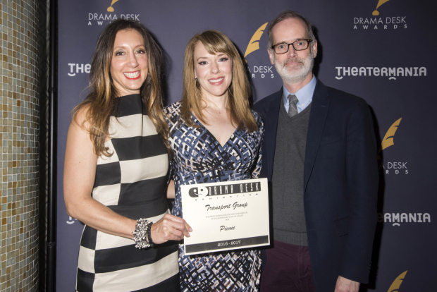 <p>Lori Fineman, Emily Skinner, and Jack Cummings III, nominees for <em>Picnic</em>.</p><br />(© Monica Simoes)