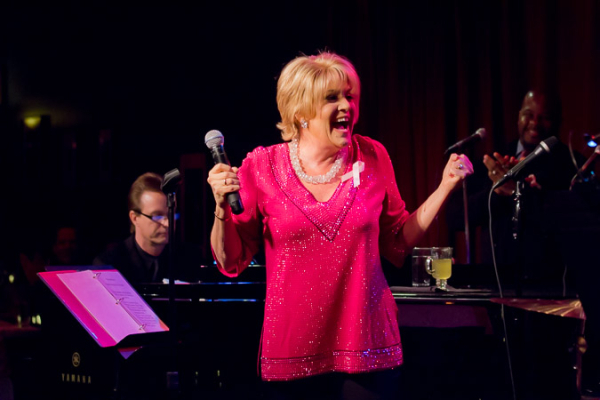 <p>Lorna gets the party started at Birdland Jazz Club.</p><br />(© Seth Walters)