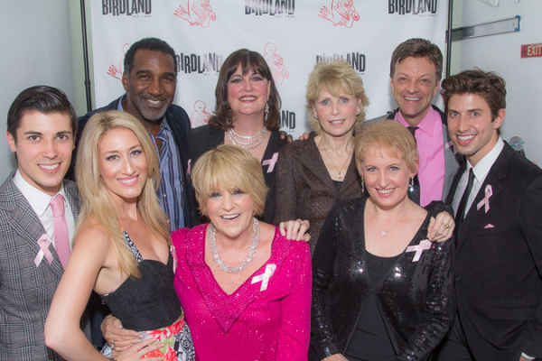 <p>Lorna Luft poses with her cast after the show.</p><br />(©Seth Walters)