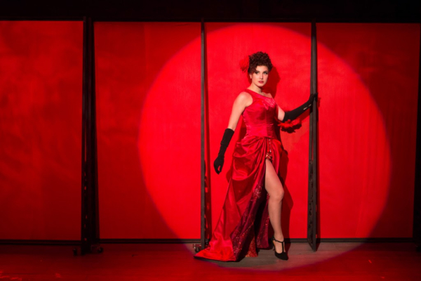 <p>Louise (Maria Rizzo) becomes burlesque star Gypsy Rose Lee.</p><br />(© Teresa Wood)
