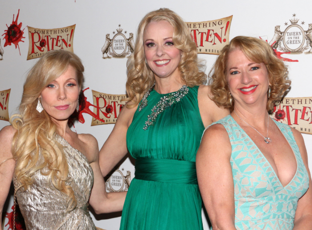 <p>Lovely ensemble ladies Jenny Hill, Angie Schworer, and Linda Griffin show off their opening-night fashion.</p><br />(© David Gordon)