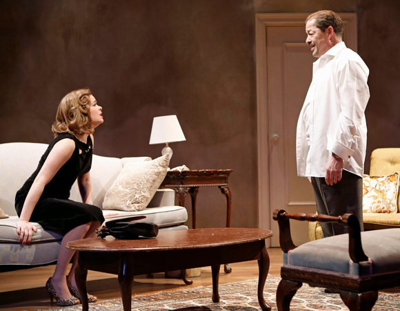 <p>Lowrance and Hadary share the stage.</p><br />(© Carol Rosegg)