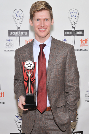 <p>Lucas Steele received the Lortel Award for his performance in <em>Natasha, Pierre &amp&#x3B; the Great Comet of 1812</em>.</p><br />(© Getty Images)