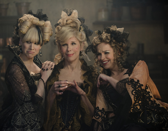 <p>Lucy Punch and Tammy Blanchard as Cinderella's evil stepsisters, flanking two-time Tony winner Christine Baranski as her evil stepmother.</p><br />(© Disney Enterprises, Inc.)