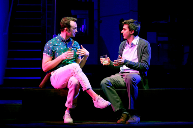 <p>Luke Smith and Gideon Glick having drinks in Joshua Harmon&#39&#x3B;s <em>Significant Other</em>.</p><br />(© Joan Marcus)