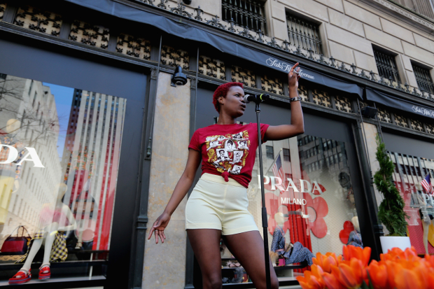 <p>Lulu Fall can currently be seen in <em>Natasha, Pierre &amp&#x3B; The Great Comet of 1812</em>.</p><br />(© Getty for Saks Fifth Avenue)