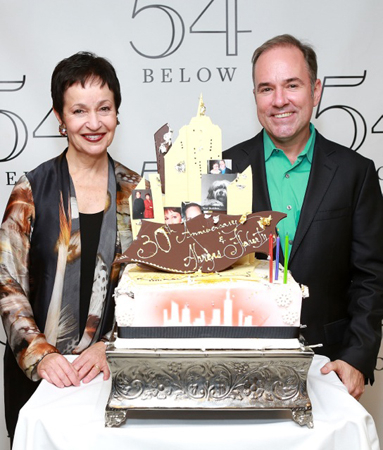<p>Lynn Ahrens and Stephen Flaherty celebrate their 30th anniversary.</p><br />(© Robin Marchant/Getty Images for 54 Below)