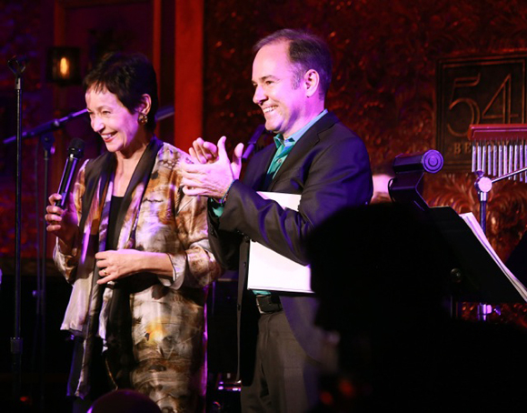 <p>Lynn Ahrens (L) and Stephen Flaherty celebrate their 30th Anniversary at 54 Below in  <em>Nice Fighting You: A 30th Anniversary Celebration</em>.</p><br />(© Robin Marchant/Getty Images for 54 Below)