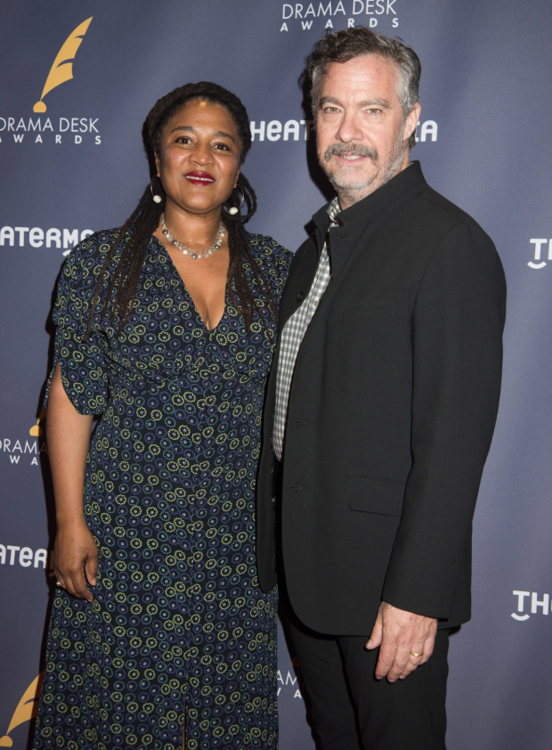 <p>Lynn Nottage, Outstanding Play nominee for <em>Sweat</em>, and her husband, Tony Gerber..</p><br />(© Monica Simoes)