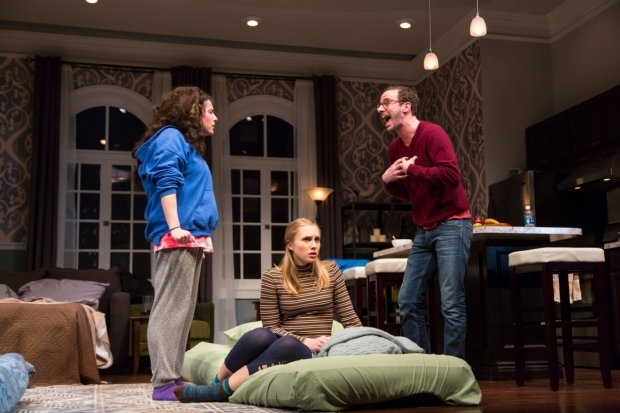 <p>Maddie Jo Landers (center) finds herself between Laura Lapidus and Alec Silberblatt.</p><br />(© T. Charles Erickson)
