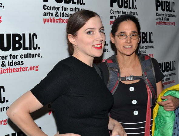 <p>Maggie Hoffman and Susie Sokol complete the cast as exotic dancer Rebecca Jackson and Supreme Court Justice Ruth Bader Ginsburg, respectively.</p><br />(© David Gordon)