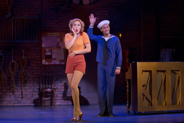 <p>Mara Davi and Danny Gardner play lovers Joan and Lucky.</p><br />(© Jeremy Daniel)
