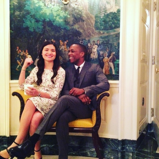 <p>March 14, 2016: Soo and Odom travel to the White House with the cast of <em>Hamilton</em> for a celebration of arts in America.</p><br />(© Ariana DeBose for @LeslieOdomJr)