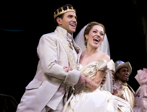 <p>March 3: Santino Fontana and Laura Osnes take their bows on the opening night of <em>Cinderella</em> at the Broadway Theatre. The pair would go on to receive 2013 Tony nominations for their performances, while Osnes would win the Drama Desk Award for Leading Actress in a Musical.</p><br />(© David Gordon)