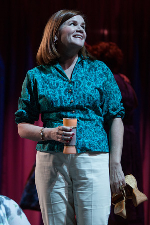 <p>Mare Winningham plays Valentina&#39&#x3B;s wife and business partner, Rita, in <em>Casa Valentina</em>. </p><br />(© Joan Marcus)