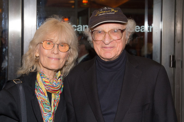<p>Margery Gray Harnick and Sheldon Harnick are excited to see the play.</p><br />(© Seth Walters)