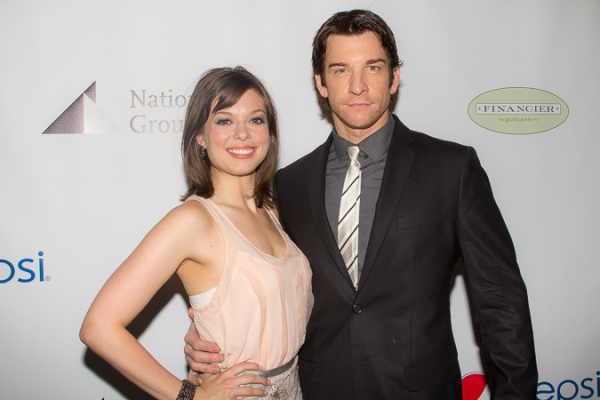 <p>Margo Seibert and Andy Karl, Distinguished Performance Award nominees for <em>Rocky</em>.</p><br />(© Seth Walters)