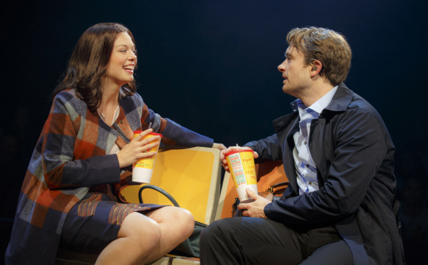 <p>Margo Seibert and James Snyder are in the ensemble of <em>In Transit</em>, directed by Kathleen Marshall.</p><br />(© Joan Marcus)