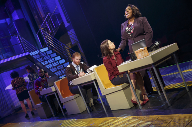 <p>Margo Seibert and Moya Angela in a scene from <em>In Transit</em>.</p><br />(© Joan Marcus)