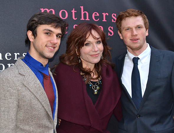 <p>Marilu Henner brought along her sons for the opening.</p><br />(© David Gordon)