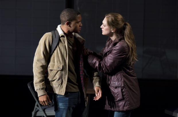 <p>Marin Ireland (right) and Nocholas L. Ashe play onstage mother and son.</p><br />(© Jeremy Daniel)