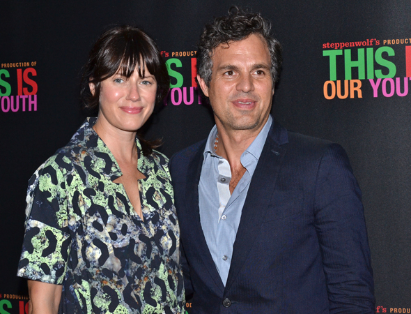 <p>Mark Ruffalo (seen here with his wife, Sunrise Coigney) starred in the original off-Broadway production of <em>This Is Our Youth</em>.</p><br />(© David Gordon)