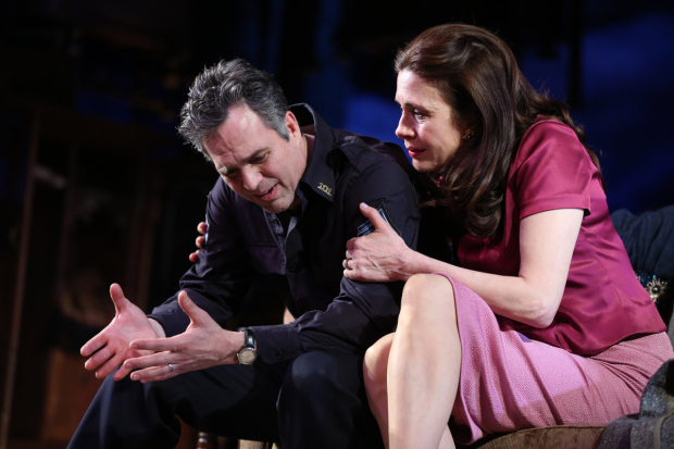 <p>Mark Ruffalo stars as Victor Franz alongside Jessica Hecht as Esther Franz.</p><br />(© Joan Marcus)