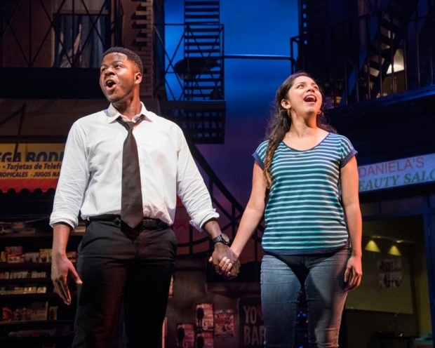 <p>Marquise White and Mili Diaz in a scene from <em>In the Heights</em>.</p><br />(© Stan Barouh)