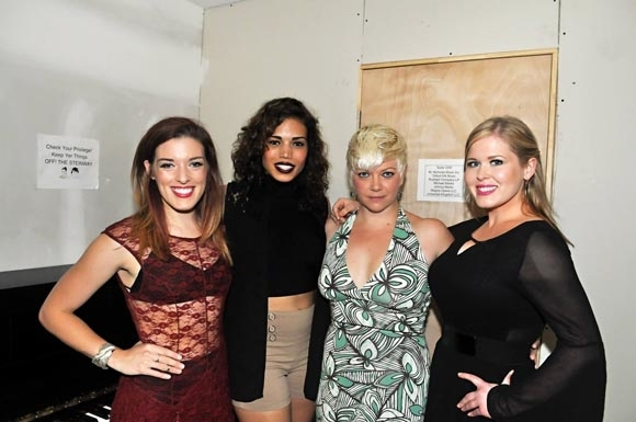 <p>Mary Kate Morrissey, Ciara Renée, Carrie Cimma, and Ryah Nixon backstage.</p><br />(© Matt Tolbert)