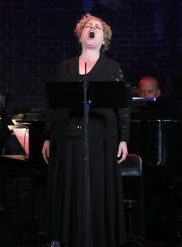 <p>Mary Testa takes the stage in a concert of <em>Queen of the Mist</em>.</p><br />(© Tricia Baron)