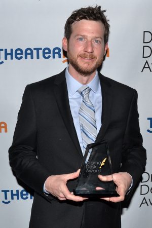 <p>Matt Tierney — Outstanding Sound Design of a Play winner for <em>Machinal</em>.</p><br />(© David Gordon)
