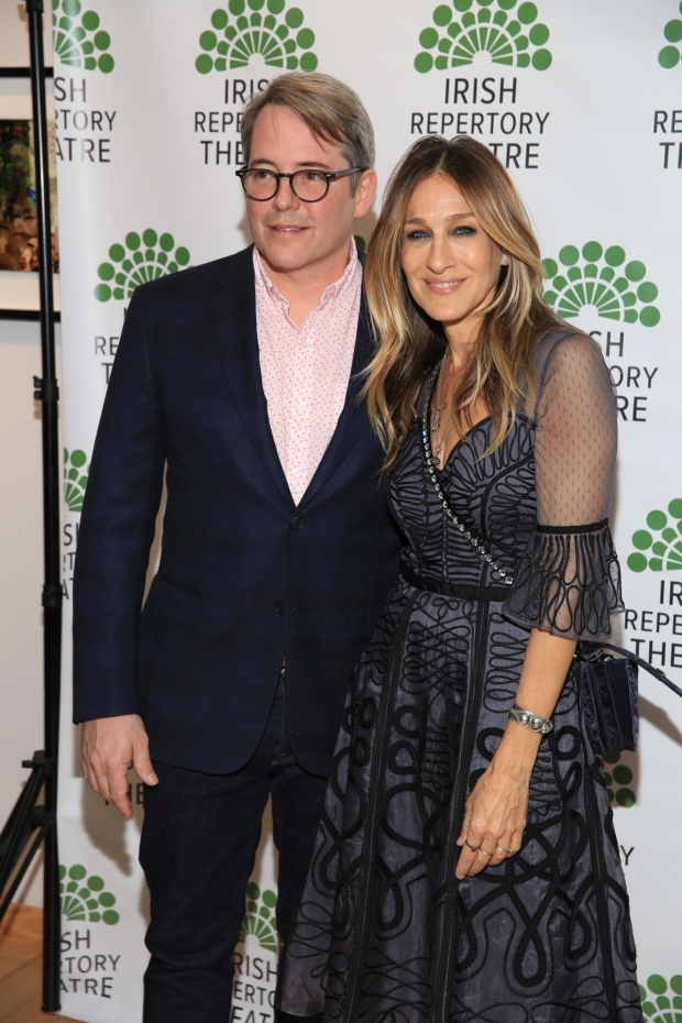 <p>Matthew Broderick celebrates opening night with his wife, Sarah Jessica Parker.</p><br />(© Tricia Baron)