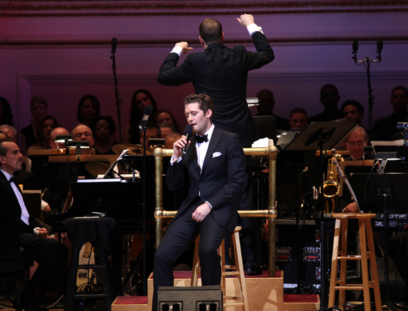 <p>Matthew Morrison performs a moving rendition of &quot&#x3B;Drifting.&quot&#x3B;</p><br />(© David Gordon)