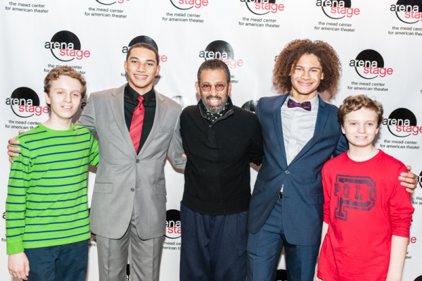 <p>Maurice Hines (center) with his tap-dancing protégés Max Heimowitz, John Manzari, Leo Manzari, and Sam Heimowitz.</p><br />(© Cameron Whitman Photography)