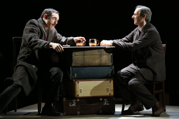 <p>Max Gordon Moore as Eugene O&#39&#x3B;Neill and Richard Topol as Lemml in <em>Indecent</em>.</p><br />(© Carol Rosegg)