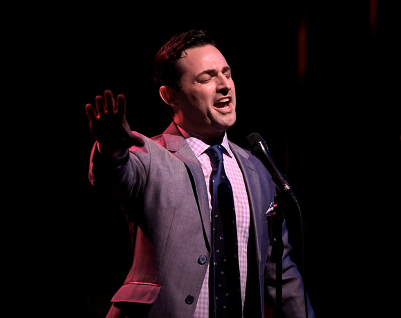 <p>Max von Essen belts the lyrics of Carolyn Leigh.</p><br />(© Kevin Yatarola)