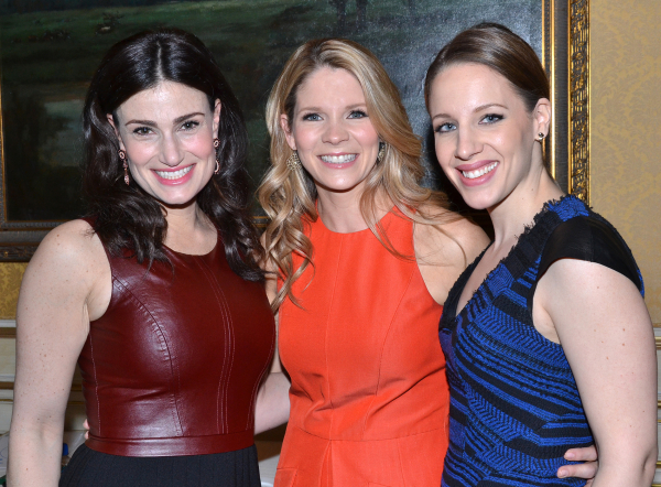 <p>May 7, 2014: Mueller joins fierce Broadway ladies Idina Menzel and Kelli O&#39&#x3B;Hara at the Drama Desk Awards nominations brunch at the JW Marriott Essex House ballroom.</p><br />(© David Gordon)
