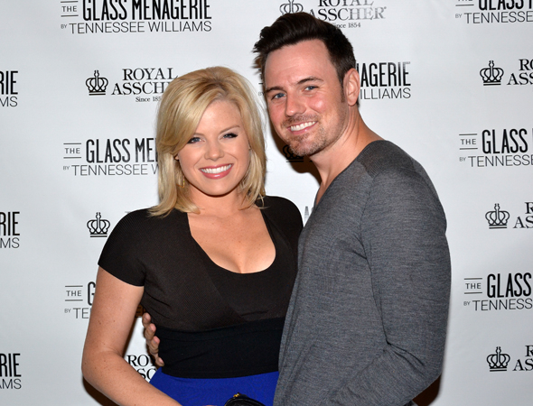 <p>Megan Hilty and Brian Gallagher are ready for another opening night.</p><br />(© David Gordon)