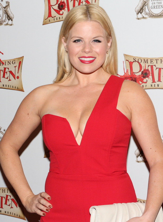 <p>Megan Hilty is thrilled to watch her <em>Smash</em> costars Christian Borle and Brian d&#39&#x3B;Arcy James in action.</p><br />(© David Gordon)