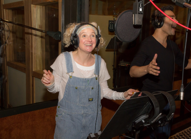 <p>Megan Lawrence is thrilled to be recording a cast album.</p><br />(© Seth Walters)