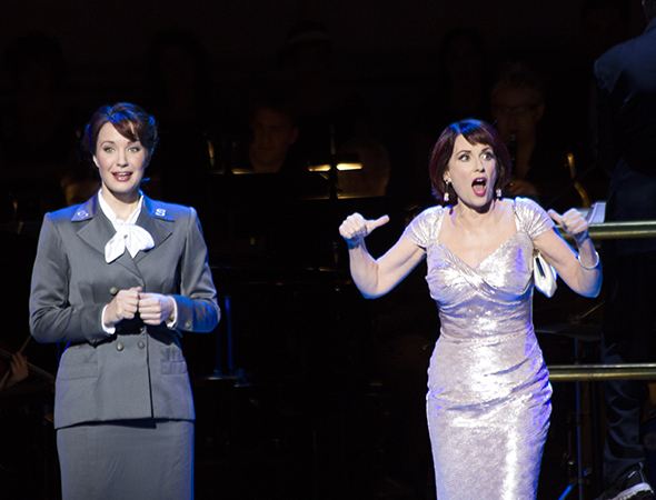 <p>Megan Mullally and Sierra Boggess sing &quot&#x3B;Marry the Man Today.&quot&#x3B;</p><br />(© David Gordon)
