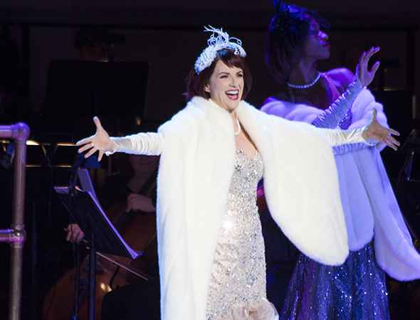 <p>Megan Mullally opens the second act with &quot&#x3B;Take Back Your Mink.&quot&#x3B;</p><br />(© David Gordon)