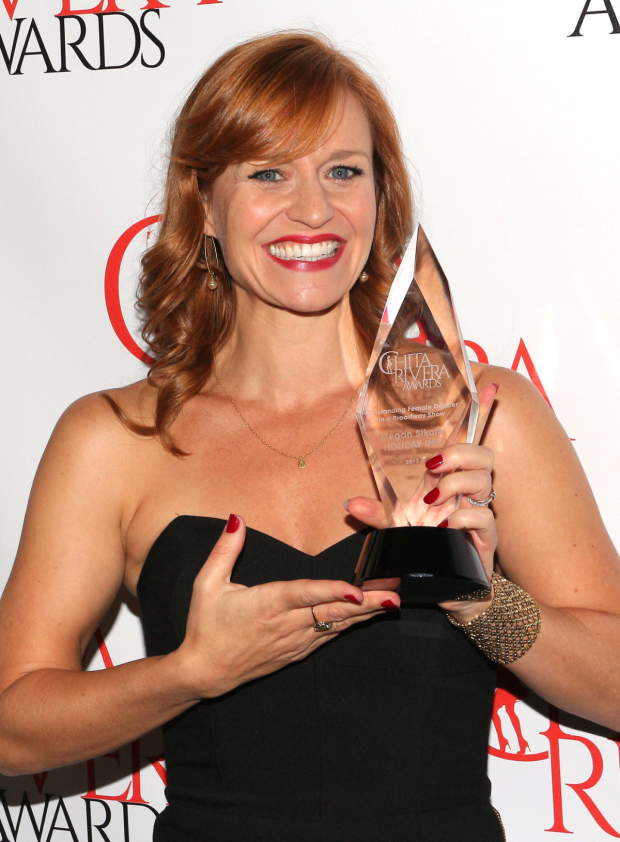 <p>Megan Sikora, Outstanding Female Dancer in a Broadway Show recipient for <em>Holiday Inn</em>.</p><br />(© David Gordon)