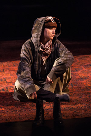 <p>Melis Aker takes on the role of Roya, an Afghan interpreter.</p><br />(© Teresa Wood)
