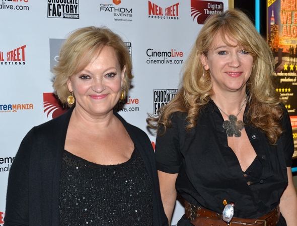 <p><em>Merrily We Roll Along</em> director Maria Friedman smiles alongside her sister, <em>Merrily</em>&#39&#x3B;s West End producer, Sonia Friedman.</p><br />(© David Gordon)