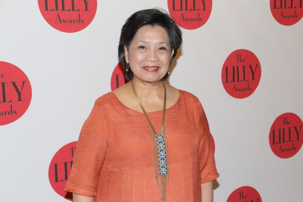 <p>Mia Katigbak is honored with a Lilly Award for Trailblazing.</p><br />(© David Gordon)
