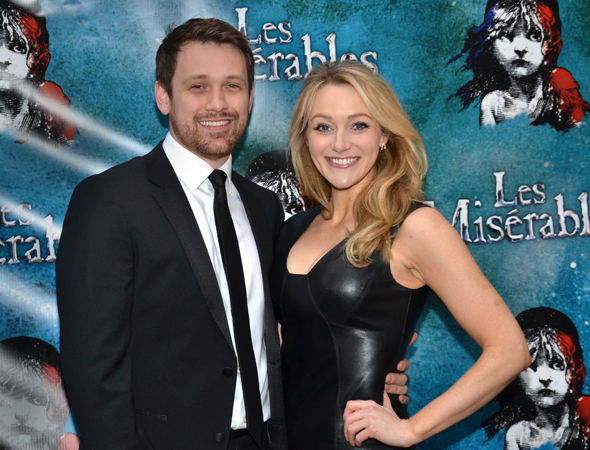<p>Michael Arden and Betsy Wolfe are each other&#39&#x3B;s dates for the opening.</p><br />(© David Gordon)